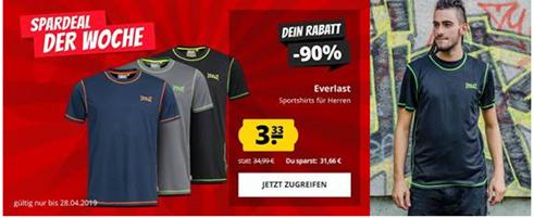 Bild zu Spardeal der Woche: Everlast Small Logo T-Shirt für 3,33€ zzgl. einmalig 3,95€ Versand