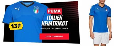 Bild zu Puma Italien Home Trikot 2018 für 17,94€ inklusive Versand