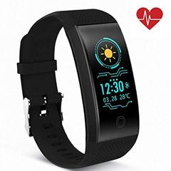 Bild zu QiyuanLS Fitness Armband mit Pulsmesser (wasserdicht, 9 Modi, Schlafmonitor, Nachtrichten wie WhatsApp etc.) für 17,99€