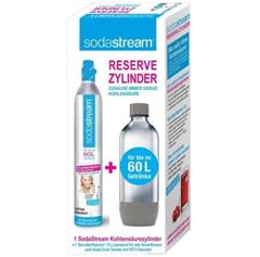 Bild zu [Super] 3 x SodaStream Reserve-Zylinder 60 Ltr. + 3 x PET Flasche für 59,98€