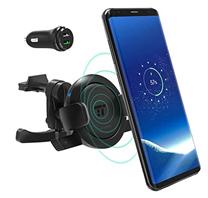 Bild zu TaoTronics Handyhalter inkl. Qi Wireless Ladestation fürs Auto für 14,99€