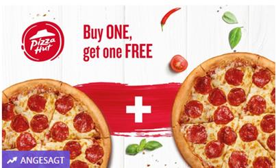 Bild zu 2-für-1 Pizza-Angebot auf alle Teigsorten und Beläge bei Pizza Hut für 0,70 €