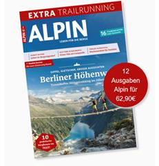 """Bild zu 12 Ausgaben der Zeitschrift """"Alpin"""" für 62,90€ + 50€ Scheck als Prämie"""