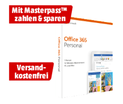 Bild zu Microsoft Office 365 Personal für 39€ (mit Masterpass 34€)