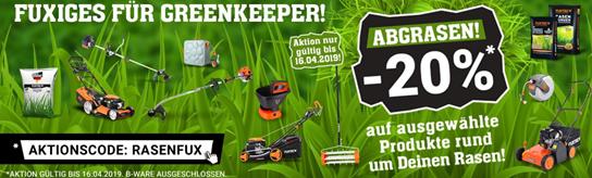 Bild zu Fuxtec: 20% Rabatt auf ausgewählte Produkte rund um Deinen Rasen!