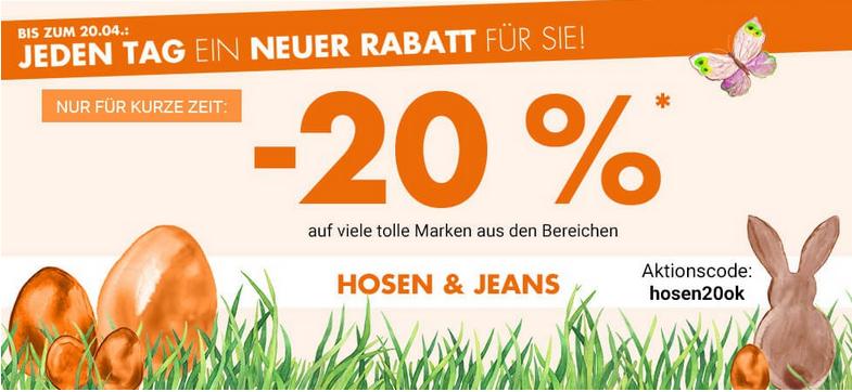 Bild zu Karstadt: 20% Rabatt auf Hosen und Jeans