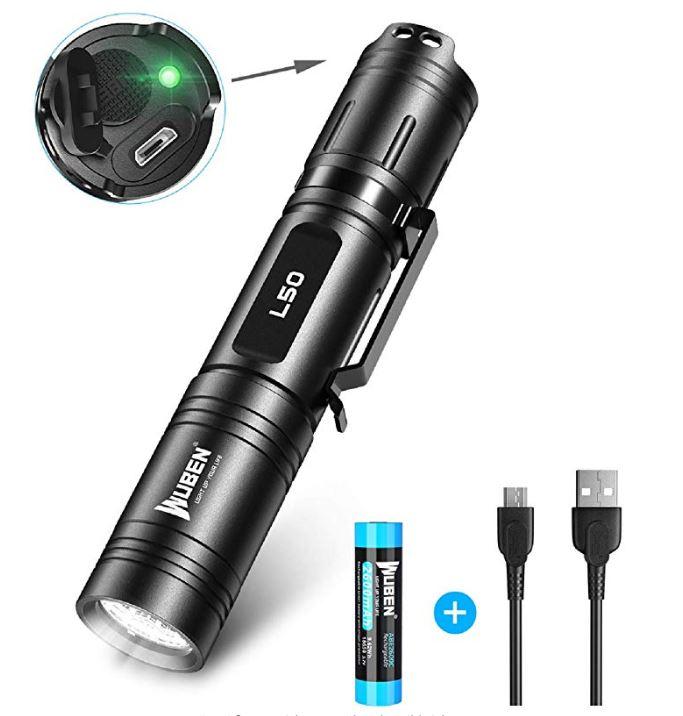 Bild zu WUBEN Extrem LED Taschenlampe (1200 Lumen, wiederaufladbar) für 17,99€ dank 40% Rabatt