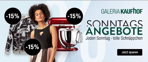 Bild zu Galeria Kaufhof Sonntags-Angebote, so z.B. 15% Rabatt auf Schleich