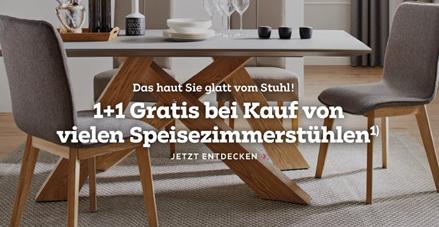 Bild zu Mömax: Stuhl kaufen und zweiten Stuhl gratis erhalten