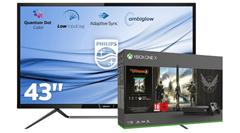 Bild zu Philips 436M6VBPAB/00 UHD Monitor + Xbox One X 1TB The Division 2 Bundle für 899€ (Vergleich: 1066,30€)
