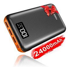 Bild zu KEDRON Powerbank 24000mAh (Externer Akku, mit Lightning & Micro, 2 Eingänge, 3 Ausgänge) für 20,26€