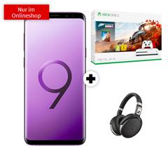 Bild zu [Super] Samsung Galaxy S9+ inkl. Xbox One S 1TB Forza Horizon (einmalig 49€) + Sennheiser Kopfhörer + o2 Free M Boost (20GB LTE Datenvolumen, Allnet- und SMS-Flat) für 34,99€/Monat