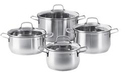 Bild zu WMF Brillant Kochgeschirr-Set 4-teilig (Cromargan® Edelstahl rostfrei 18/10) für 60€ (Vergleich: 81,97€)