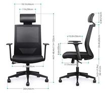 Bild zu Amzdeal ergonomischer Bürostuhl mit einstellbarer PU Kopfstütze (bis 136kg belastbar) für 97,49€