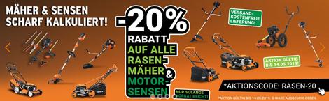 Bild zu Fuxtec: 20% Rabatt auf alle Rasenmäher & Motorsensen, z.B. Fuxtec Mähroboter FX-RB144 für 535,20€