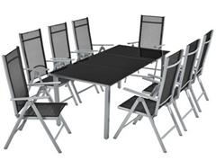 Bild zu ArtLife Aluminium Essgruppe (8 Stühle + Tisch) für 279,95€ (Vergleich: 314,95€)