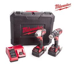 Bild zu Milwaukee M18BPP2C-402C Akku-Kombiset 18V + 2x 4,0Ah im Koffer für 278,90€ (Vergleich: 315,59€)
