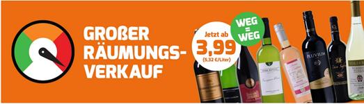 Bild zu Weinvorteil: Räumungsverkauf mit Weinen ab 3,99€ pro Flasche + kostenloser Versand auf Alles