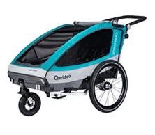 Bild zu Qeridoo Sportex 2 2018 Fahrradanhänger aquamarin für 299,99€ (Vergleich: 389€)