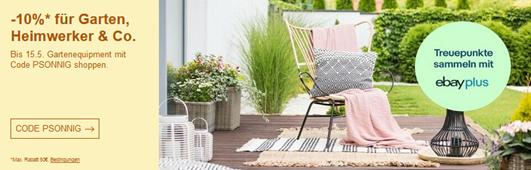 Bild zu eBay: 10% Rabatt für Garten, Heimwerker & Co.