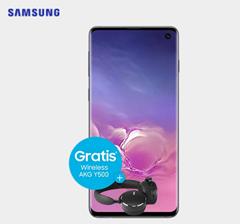 Bild zu Samsung Galaxy S10 inkl. AKG Y500 Wireless-Kopfhörer für 5€ mit Vodafone Tarif (7GB LTE, SMS und Sprachflat) für 36,99€/Monat