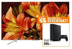 Bild zu Sony KD-55XF8577 UHD 4K TV + Sony PS4 500GB für 897€ (Vergleich: 1.203,95€)