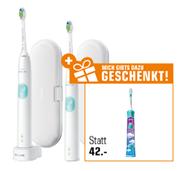 Bild zu Philips HX 6807/35 Elektrische Zahnbürste + Philips HX 6322/04 Elektrische Zahnbürste für Kinder für 80,99€ (Vergleich: 138,57€)