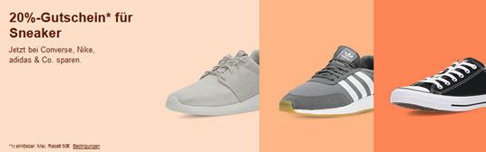 Bild zu eBay: 20% Rabatt auf ausgewählte Sneaker