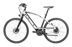 Bild zu CYCLE ELECTRIC MILOS (one size) Urbanbike (Aluminiumrahmen mit geschwungenem Oberrohr, 403 Wh, Weiß/Schwarz) für 1.399€ (Vergleich: 2.278,90€)