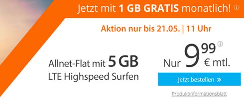 Bild zu sim.de: Allnet Flat mit 5GB LTE Datenflat sowie SMS Flat im o2 Netz für 9,99€/Monat (oder monatlich kündbar mit 4GB)