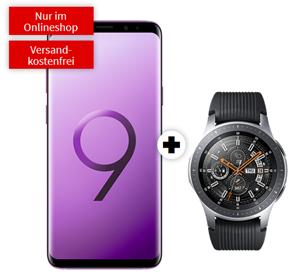 Bild zu SAMSUNG Galaxy S9+ Dual-SIM & Samsung Galaxy Watch 46mm BT für 79€ mit 4GB LTE Datenflat und Sprachflat im Vodafone Netz für 26,99€/Monat