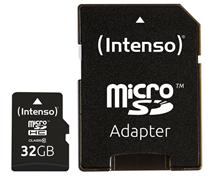 Bild zu Intenso MicroSDHC 32GB Speicherkarte Class 10 inkl. SDHC Adapter für 5€ (Vergleich: 7,99€)