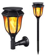 Bild zu TaoTronics Solarleuchten/Garten-Fackeln 2 Stück mit realistischen Flammen und IP65 wasserdicht für 29,99€