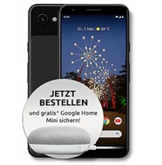 Bild zu [Top] Google Pixel 3a 64GB LTE inkl. Google Home Mini im Otelo Tarif (Vodafone Netz) mit 5GB LTE Datenflat und Sprachflat für 19,99€/Monat