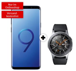 Bild zu Samsung Galaxy S9+ inkl. Samsung Galaxy Watch 46mm BT (einmalig 49€) + o2 Free M Boost (20GB LTE Datenvolumen, Allnet- und SMS-Flat) für 34,99€/Monat