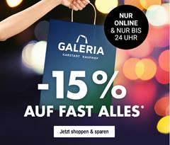 Galeria Kaufhof: 15% Rabatt auf fast alle Artikel im