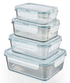 Bild zu GOURMETmaxx Klick-it Glas-Frischhaltedosen 8-teilig für 19,90€ (Vergleich: 26,44€)