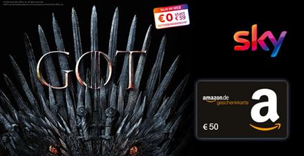 Bild zu Sky Entertainment HD: Game of Thrones Finale Staffel für 12,49€/Monat + 50€ Bonus + 0,00€ Aktivierungsgebühr