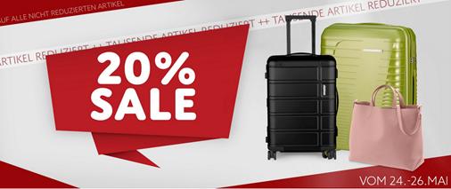Bild zu Koffer-Direkt: 20% Rabatt auf alle nicht reduzierten Artikel.