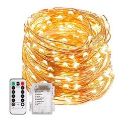 Bild zu ECOWHO 20m Lichterkette (200 LEDs, wasserdicht, Batteriebetrieb, inkl. Fernbedienung) für 7,64€