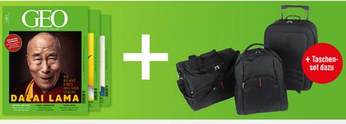 """Bild zu [Top] 3 Ausgaben """"Geo"""" für 16,90€ (anstatt 24,90€) inkl. 3-teiliges Reisetaschen-Set für 1€"""