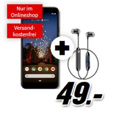 Bild zu [Megaknaller] GOOGLE Pixel 3a & Sennheiser CX6 für 49€ mit 1GB LTE Datenflat und Sprachflat im Vodafone Netz für 11,99€/Monat –fast 100€ gespart + Tarif rechnerisch umsonst
