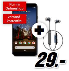 Bild zu [Knaller] GOOGLE Pixel 3a XL & Sennheiser CX6 für 29€ mit 2GB LTE Datenflat und Sprachflat im Vodafone Netz für 16,99€/Monat