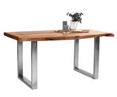 Bild zu Rustikaler Esstisch (160 x 90cm) aus echtem Akazienholz ab 189€