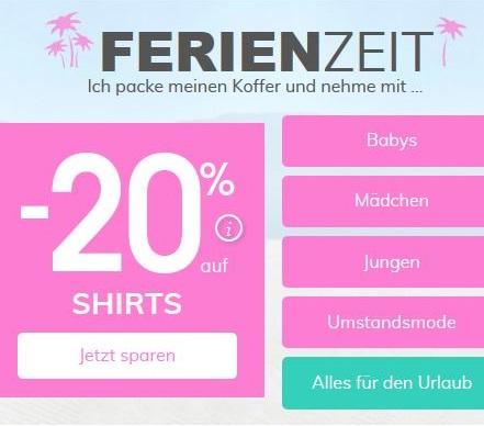 Bild zu Vertbaudet: 20% Rabatt auf alle Shirts im Shop + 10% Extra Rabatt