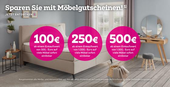 Bild zu Mömax: Bis zu 500€ Rabatt auf Möbel (abhängig vom Bestellwert)