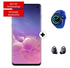Bild zu [Knaller] SAMSUNG Galaxy S10 Dual-SIM & Samsung Gear Sport Smartwatch & Samsung Gear IconX 2018 für 49€ mit Telekom Tarif (2GB LTE, SMS und Sprachflat) für 29,95€/Monat