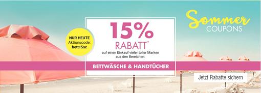 Galeria Kaufhof 15 Rabatt Auf Bettwäsche Handtücher Dealgottde
