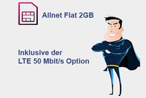 Bild zu 2 GB LTE Allnet Flat im Telekom-Netz + 50€ Amazon.de Gutschein für 11,99€/Monat