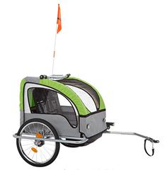 Bild zu Fischer Kinder Fahrradanhänger Komfort mit Federung (TÜV/GS Geprüft) für 129€ (Vergleich: 174,99€)